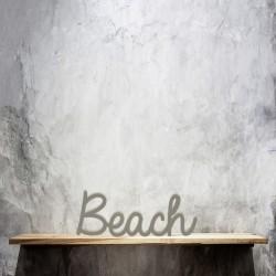 Schriftzug Beach, Schreibschrift