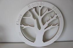Lebensbaum mit Geburtsdaten nach Wahl, Geschenk zur Geburt