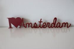 """Schriftzug """"I love Amsterdam"""""""