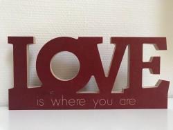 Love Schriftzug mit Spruch nach Wahl