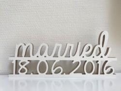 """Hochzeitsgeschenk """"Married"""" mit Datum"""