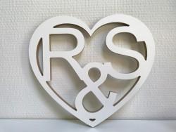 Herz mit 2 Initialen