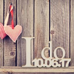 """Hochzeitsgeschenk """"I do"""" mit Datum"""