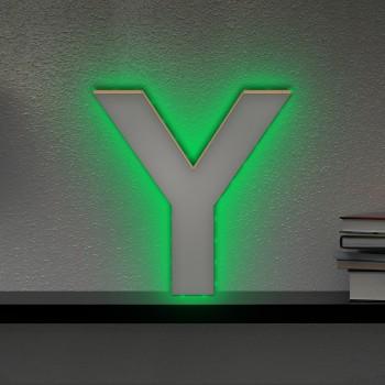 Beleuchteter Holzbuchstabe Y - LED Lampe