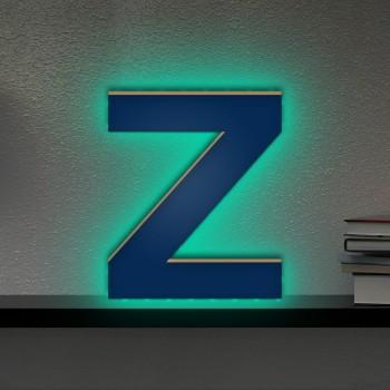 Beleuchteter Holzbuchstabe Z - LED Lampe