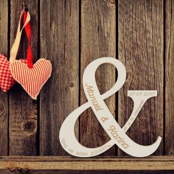 """Hochzeitsgeschenk """"Für immer und ewig"""""""