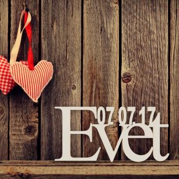"""Hochzeitsgeschenk """"Evet"""" mit Datum"""