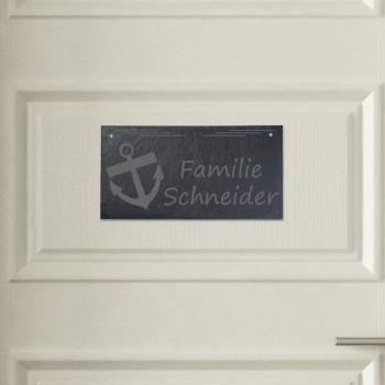 Türschild aus Schiefer - Design Anker