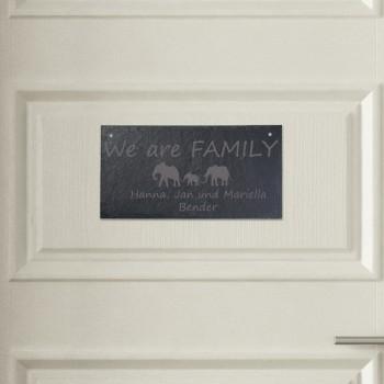 Türschild aus Schiefer - Design We Are Family