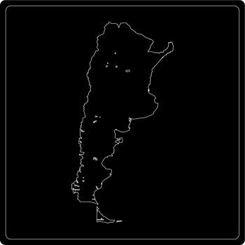 Silhouette Argentinien