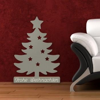 Weihnachtsbaum aus Holz - Frohe Weihnachten