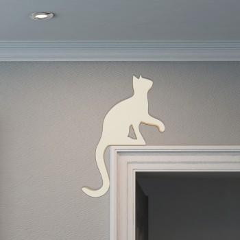 Türdeko weiße Katze