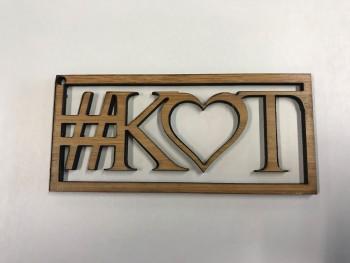 Schlüsselanhänger aus Holz - Herz mit zwei Initialien