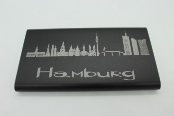 Powerbank 10000 mAh - Skyline Hamburg
