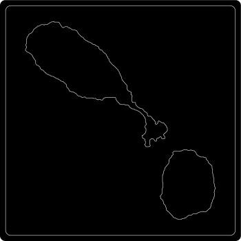 Silhouette St. Kitts und Nevis