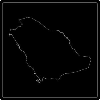 Silhouette Saudi-Arabien