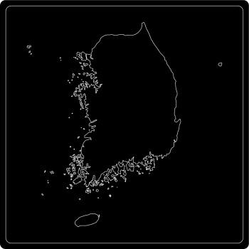 Silhouette Südkorea