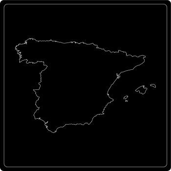Silhouette Spanien