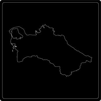Silhouette Turkmenistan