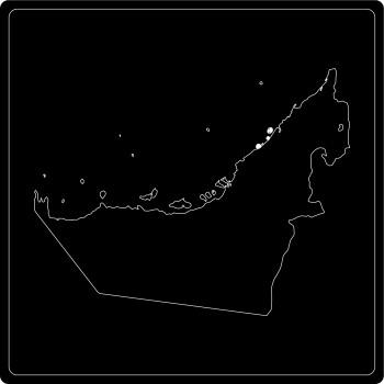 Silhouette Vereinigte Arabische Emirate