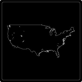 Silhouette Vereinigte Staaten von Amerika (USA)