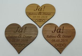 Wir heiraten - Termin Erinnerung / Safe the Date Herz mit Datum