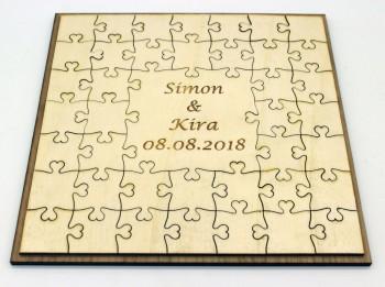 Hochzeitsgästebuch 22cm 7x7 Teile aus Pappel