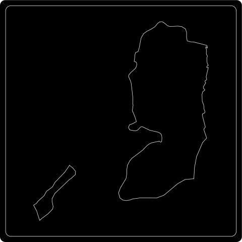 Silhouette Staat Palästina