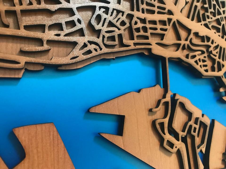 Großartig Gerahmte Karte Der Welt Bilder - Badspiegel Rahmen Ideen ...