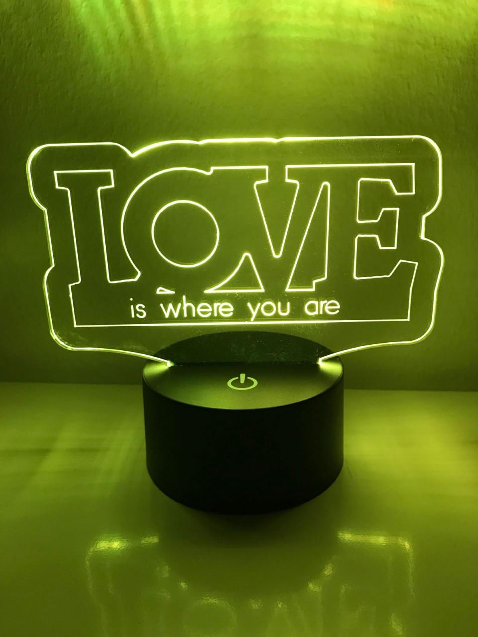 led lampe love schriftzug mit spruch nach wahl. Black Bedroom Furniture Sets. Home Design Ideas